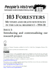 103 Foresters Issue 1 Cover